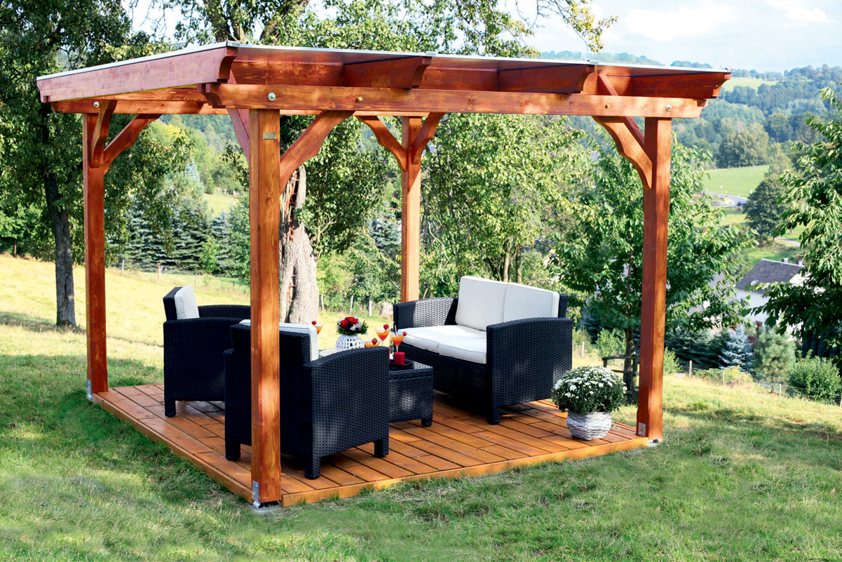 pergola holz bausatz swalif. Black Bedroom Furniture Sets. Home Design Ideas